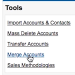 Merge Accounts in Salesforce Classic Account Tab